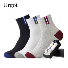Urgot 5 Pairs/lot Cotton Mens Socks Fashion Breathable Spring Autumn S