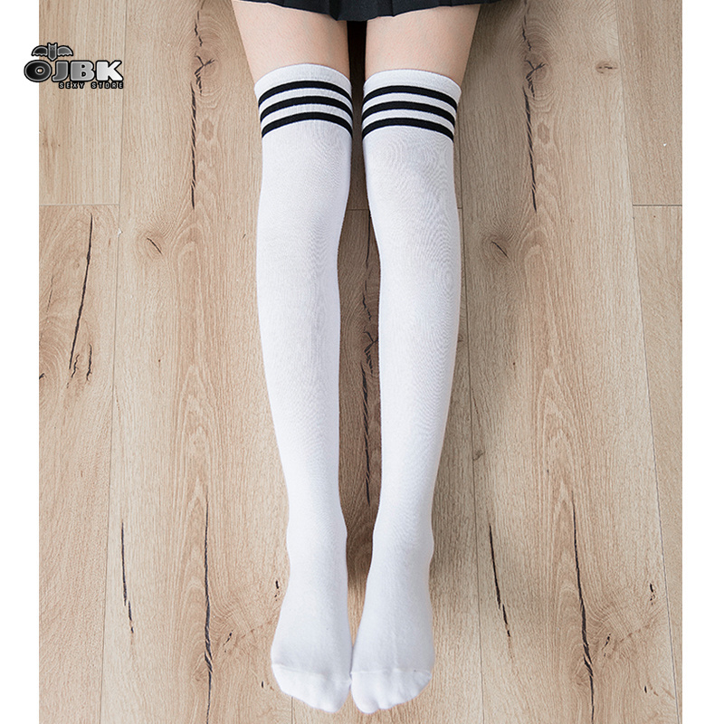 Women Crew Socks Thigh High Knee Yellow Moon Long Tube Dress Legging Sport Compression Stocking