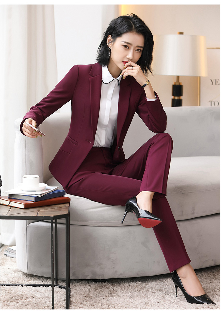 Hf3b62223aa2d45b5abedbf874ac1cc6aV - Autumn Business Casual Long Trousers Women Solid Black Blue Red Formal Pants Office Ladies Work Wear Straight Suit Pant 4XL