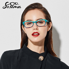 Montura de gafas para mujer, montura de gafas para miopía, lentes ópticas de ojo de gato, Retro, transparente