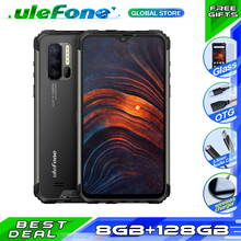 Ulefone Armor 7 NFC IP68 Smartphone traqueur de fréquence cardiaque Android 9.0 Helio P90 Octa Core 6.3 8GB + 128GB 48MP 4G 5500mAh téléphone