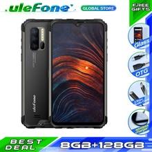 Ulefone armadura 7 nfc ip68 smartphone rastreador de freqüência cardíaca android 9.0 helio p90 octa núcleo 6.3 8 8 8 gb + 128 gb 48mp 4g 5500 mah telefone