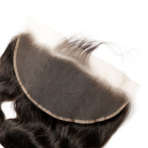Image 3 - Vücut dalga 13x6 13x4 dantel Frontal kapatma ile bebek saç MS Lula brezilyalı % 100% insan saçı remy saç ön koparıp siyah kadınlar için