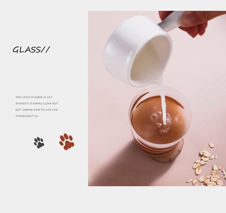 Hf3b64dbafb5545bda14343981b37a685e - 350ml Mug Heat-resistant Glass Cat Cup Tiger Paws Office Matte Cat Paws Creative Milk Coffee Cup Cute Children Drink Bottle