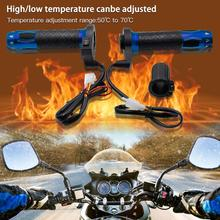 Hot ! Electric Heating Handlebar Motorcycle Heated Handle Grip Motorcycle Switch Three-level Thermostat Motorcycle Heating Grips wupp winter use motorcycle motocross atv heated handle grip 12v 2x15w warm hand grips handlebar grip with 11x9cm long heat sinks