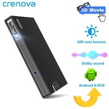 CRENOVA 2019 最新ミニ無線 Lan の Bluetooth (オプション 2 グラム 16 グラム) アンドロイドプロジェクターのため 4 18k ビデオ 3D ドルビービーマー