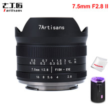 7artisans 7.5mm F2.8 II V2.0 APS-C Format Objectif Fisheye avec 190 ° Angle de Vue pour Sony E Fuji Nikon Z M4/3 Caméra Sans Miroir