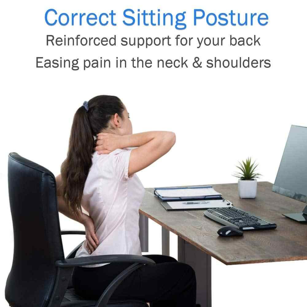 調整可能な姿勢コレクターバックサポート肩腰椎ブレースサポートコルセットのバックベルト男性ドロップシッピング