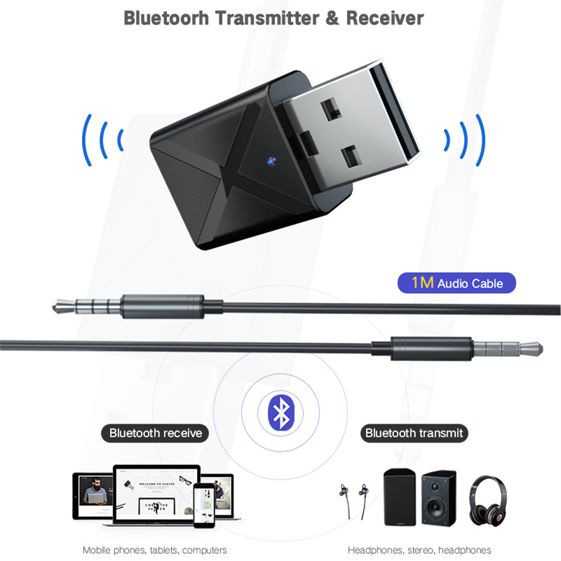Wireless BT Transmitter Adapter//Dongle//Audio Receiver for TV PC Laptop US