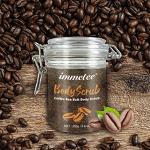 Arabica Coffee Body Scrub Bath Salt Natural Coconut Oil Body Scrub Exfoliating Whitening Moisture Reducing Cellulite DROP SHIP