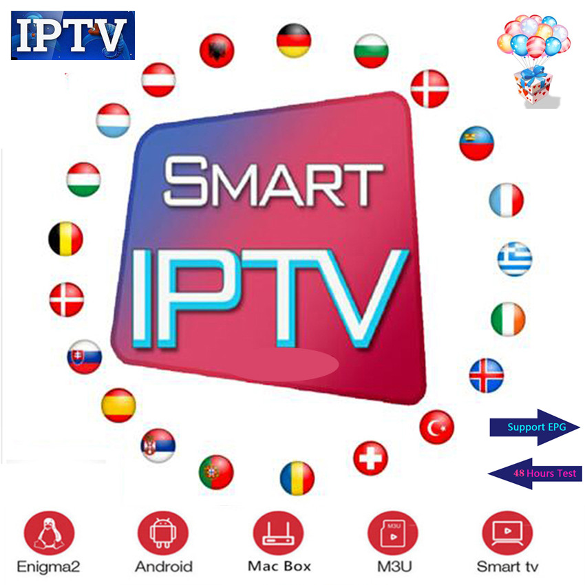 TV IPTV 1 Year Subscription With 8000+ Live TV And VOD French Arabic UK Gemany Europe Iptv Free Test For Android M3u Smart TV