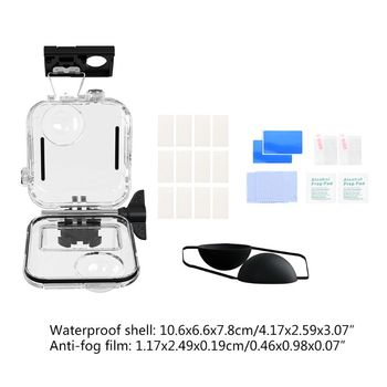 Waterproof Case Shell Protective Cover Tempered Glass Film Protector for GoPro Max 360 Panoramic Camera Accessories