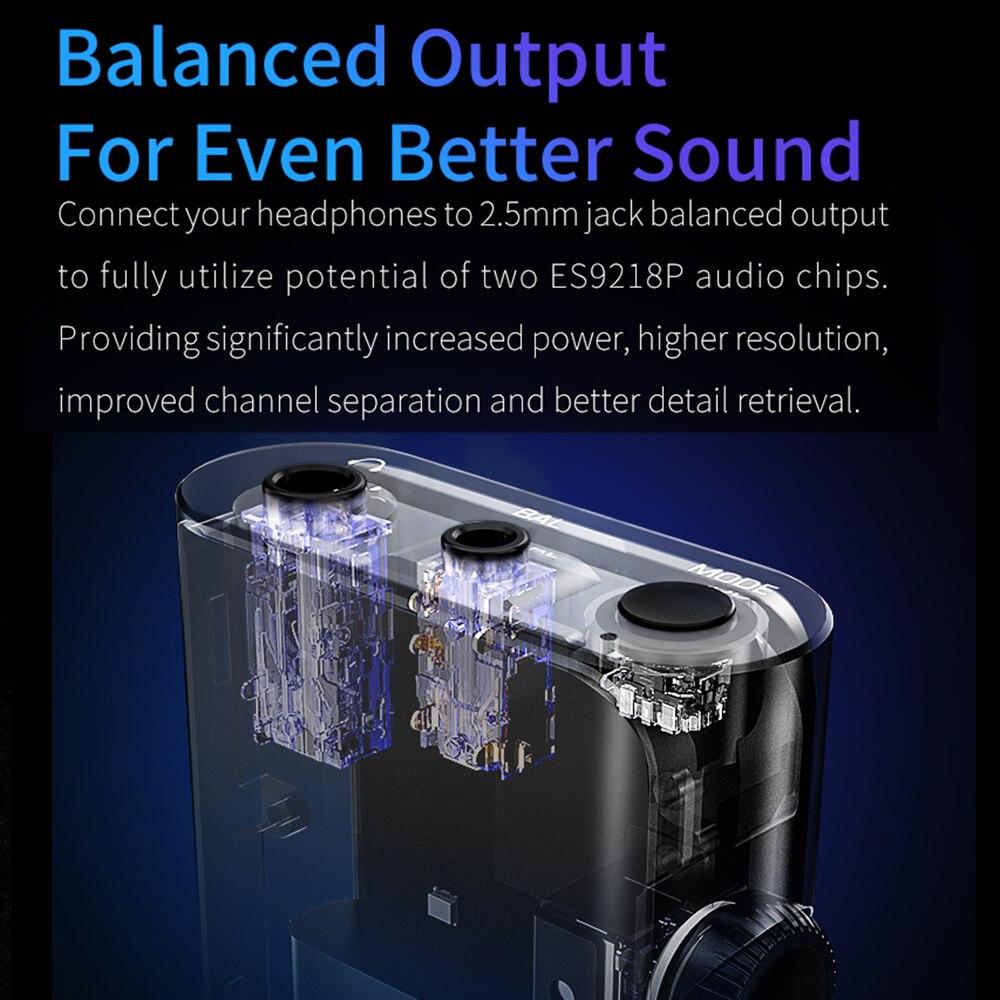 Shanling UP4 CSR8675 Bluetooth 5.0 USB DAC ES9218P amplificateur haute résolution LDAC LHDC APTX HD AAC SBC Knoowles Microphone type-c 3.5/2.5 - 5
