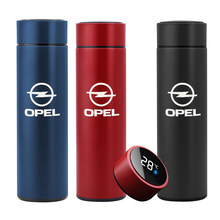 NEW 500ML smart thermos bottle for OPEL Astra Car accessories Digital temperature display stainless steel coffee mug