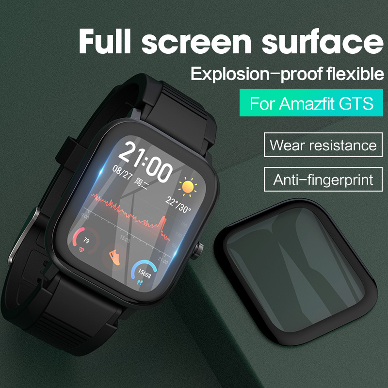 Screen Protector Screen Protective Film 2020 For AMAZFIT GTS Smart Watch Clear Cover Accessories