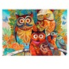 Owl Family Puzzle 1000 Pieces Wooden Adult Jigsaw Puzzle Color Abstract Painting Puzzle for Children Educational Toy Gift 2020 1