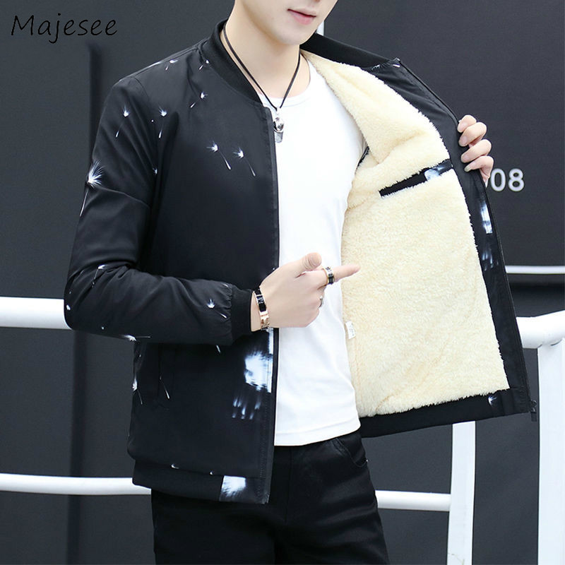 Jacket Men Winter Clothes Thicker Warm Cold-proof Mens Jackets And Coats Printing Males Casual Slim Fit Clothing Black Coat Chic