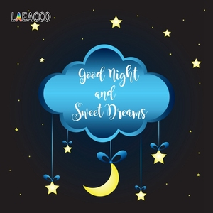 Image 5 - Laeacco фоны для фотосъемки с облаками Луной и звездами, фоны для фотосъемки, Фотофон для детского душа, фотозона для новорожденных, для фотостудии