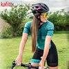 Kafitt verão novo de manga curta ciclismo wear terno macacão feminino triathlon ciclismo wear mountain bike macaquinho 10