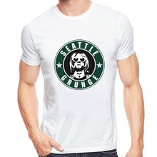 SEATTLE GRUNGE  T Shirts Hanson Nirvana T-Shirt Mens O-Neck Hip Hop Brand Clothing Short Sleeve fashion men Shirt