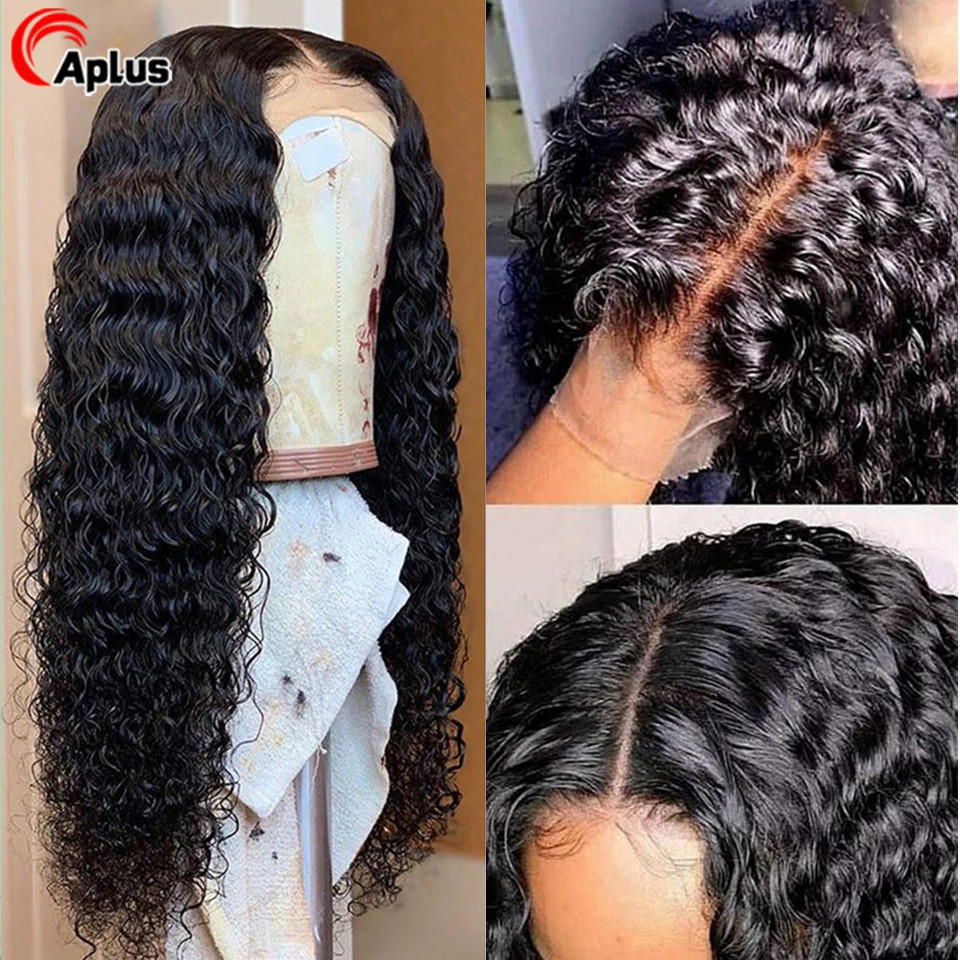 5x5 6x6 Lace Closure Wig Deep Wave 180 Density Human Hair Wigs 4x4 Middle Part Closure Wig Brazilian Glueless Lace Wig For Women