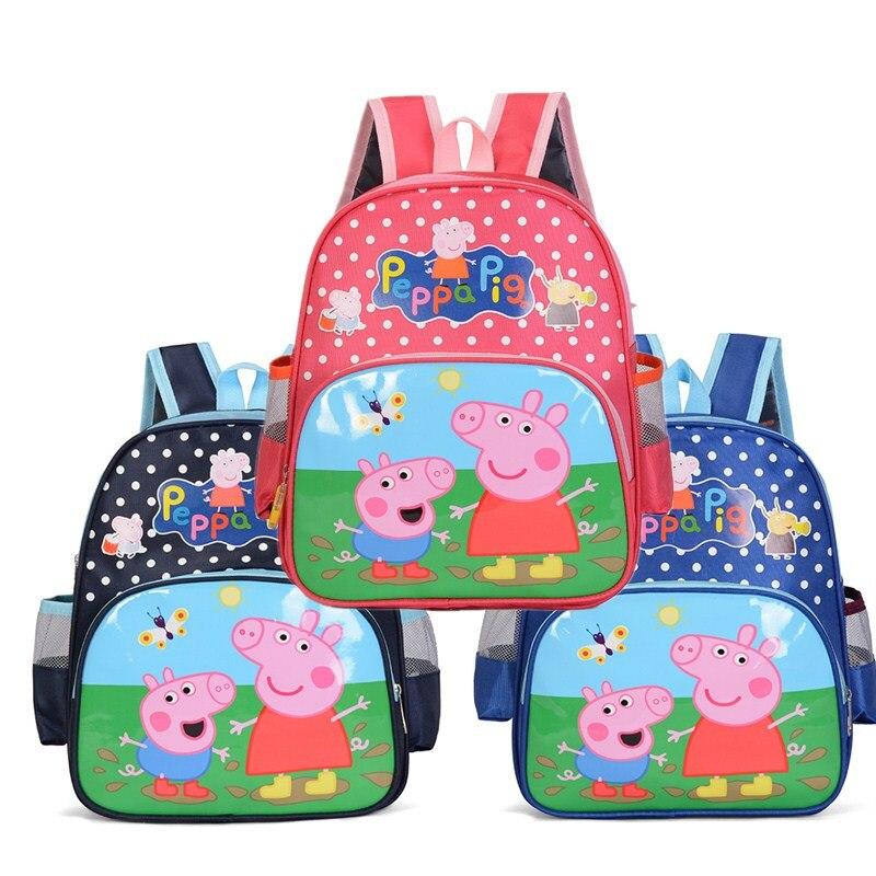 Peppa Pig Toys Pepa Pig Action Figure Kids Bag School Cute Knapsack Canine Backpack Toys Peppa Pig Birthday Gift