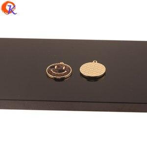 Image 5 - Design cordial 50 pçs 18*20mm acessórios de jóias/faça você mesmo/feito à mão/forma de rosto/efeito de impressão de leopardo/encantos/brincos achados