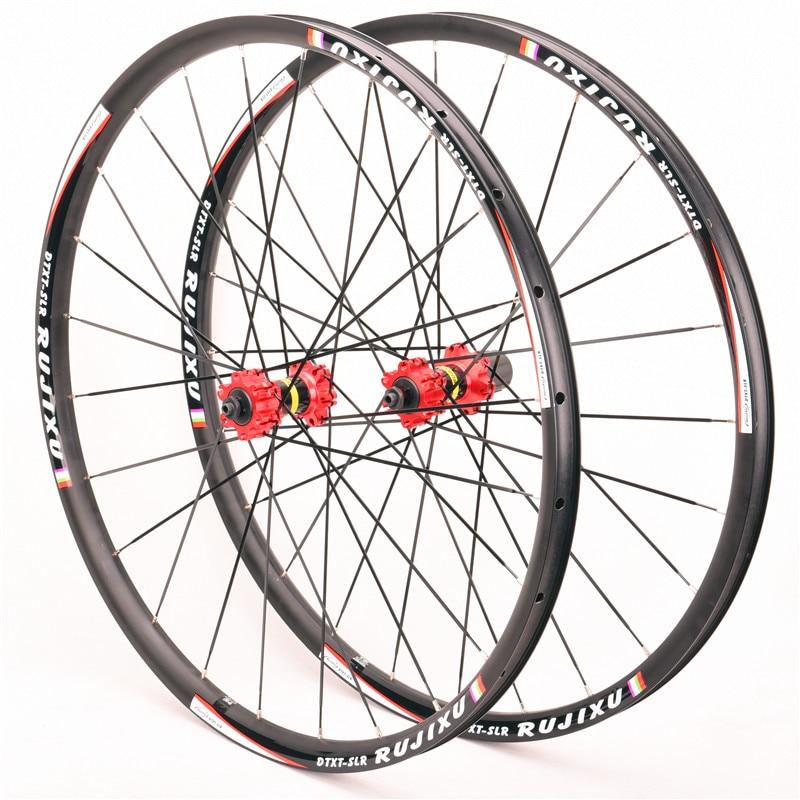 Super lekki MTB Mountain Bike 26 27.5 29 cali hamulec tarczowy uszczelnione łożysko sześć otworów obręcz koła ze stopów koła rozprowadzone płaskie