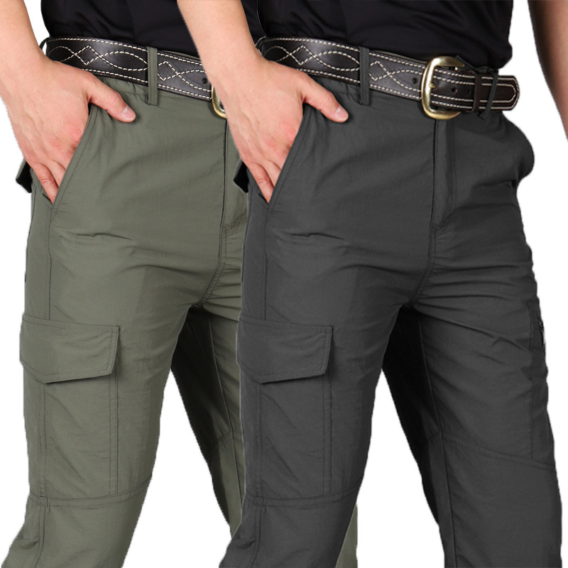 Tactical Waterproof Cargo Pants Men Spring Summer Quick Dry Trousers Men's Outdoor Sports Trekking Camping Fishing Pants S 4XL
