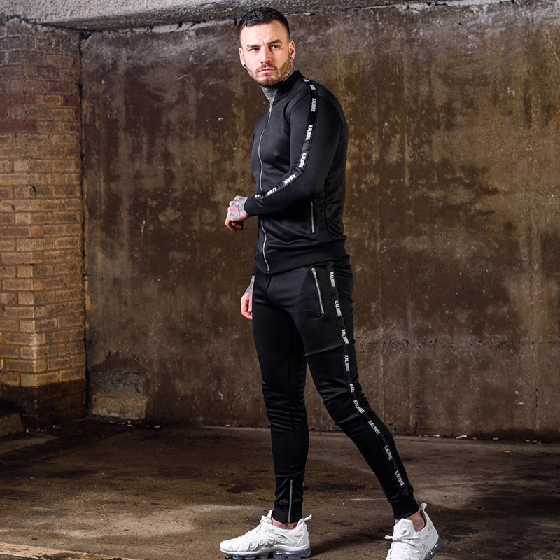 Vanquish Men's Casual Sports Suit Autumn And Winter Fitness Fashion Fit Jogger 2-piece Running Cardigan For Men Gym Clothing Pakistan