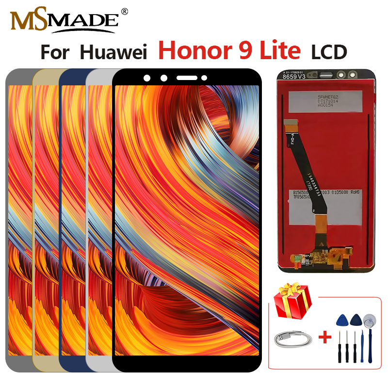 For <font><b>Huawei</b></font> <font><b>Honor</b></font> <font><b>9</b></font> <font><b>Lite</b></font> LLD-L31 LCD <font><b>Display</b></font> Touch Screen Digitizer Replacement Parts With <font><b>Frame</b></font> Free Shipping 100% Tested image