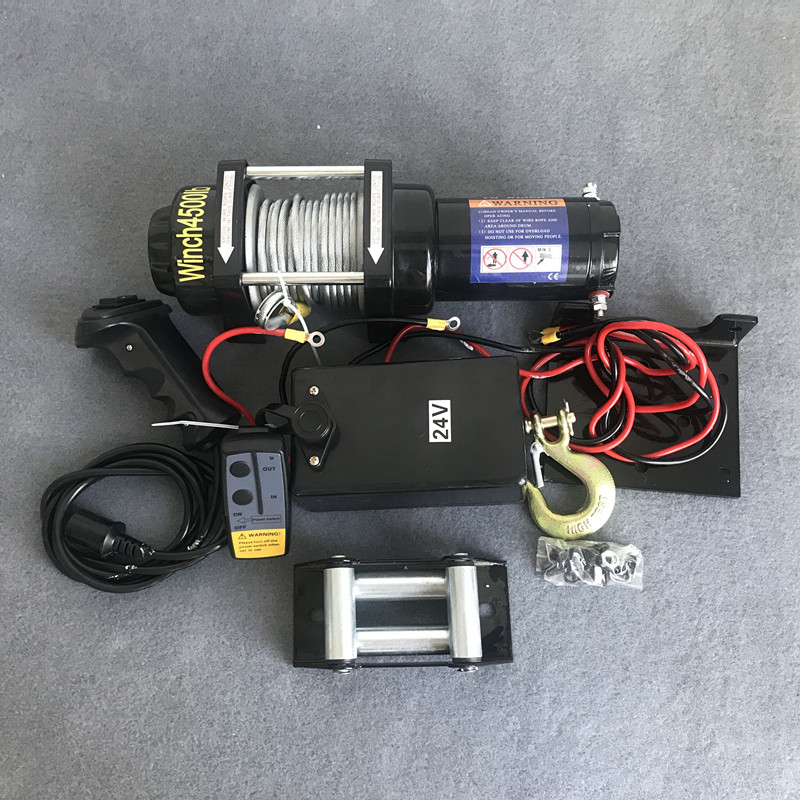 Electric Winch 12v Car Winch 2000/3000/4000 /4500/6000/9500/12000lb Handle/wireless Wire Rope ATV Winches