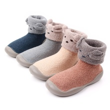 Shoes Baby-Girls Winter Bottom First-Walker Soft Autumn Walking Breathable Boy Solid-Color