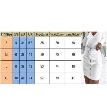 2019 New Women Girl Sexy Pencil Skirts Zipper High Waist Skirt Solid PU Leather Skirt Stretch Bodycon Short Mini Skirts Hot 5