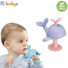 Baby Teether Infant Silicone Teething Toys Bite Resistant Teether Soft Food Grad