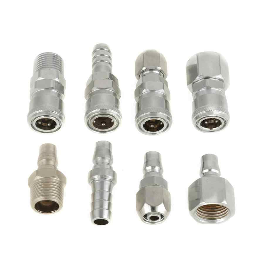 20Pcs 8mm to 8mm Pneumatic Air Pipe Quick Fitting Coupler Connector Adapter