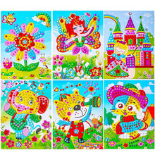 Mosaico adesivos puzzle arte kits 8 pçs faísca diy artesanato artesanal colar de cristal pintura brinquedos crianças educação precoce presente criativo