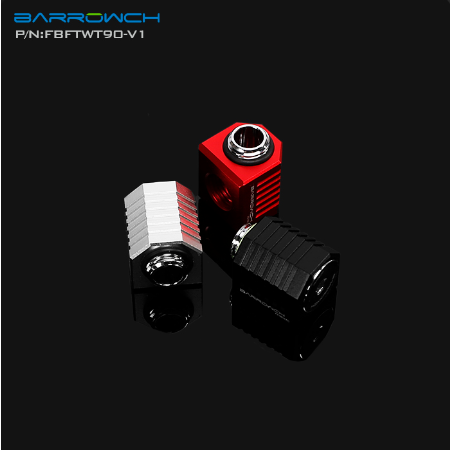 Barrowch FBFTWT90-V1, Open Style 90 Degrees Rotation Fittings,cooling Fittings