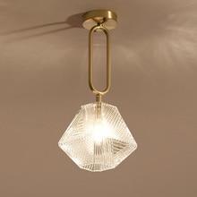 Lámpara colgante LED para el hogar, accesorio de iluminación interior, luz dorada, AC110 220V, para sala de café
