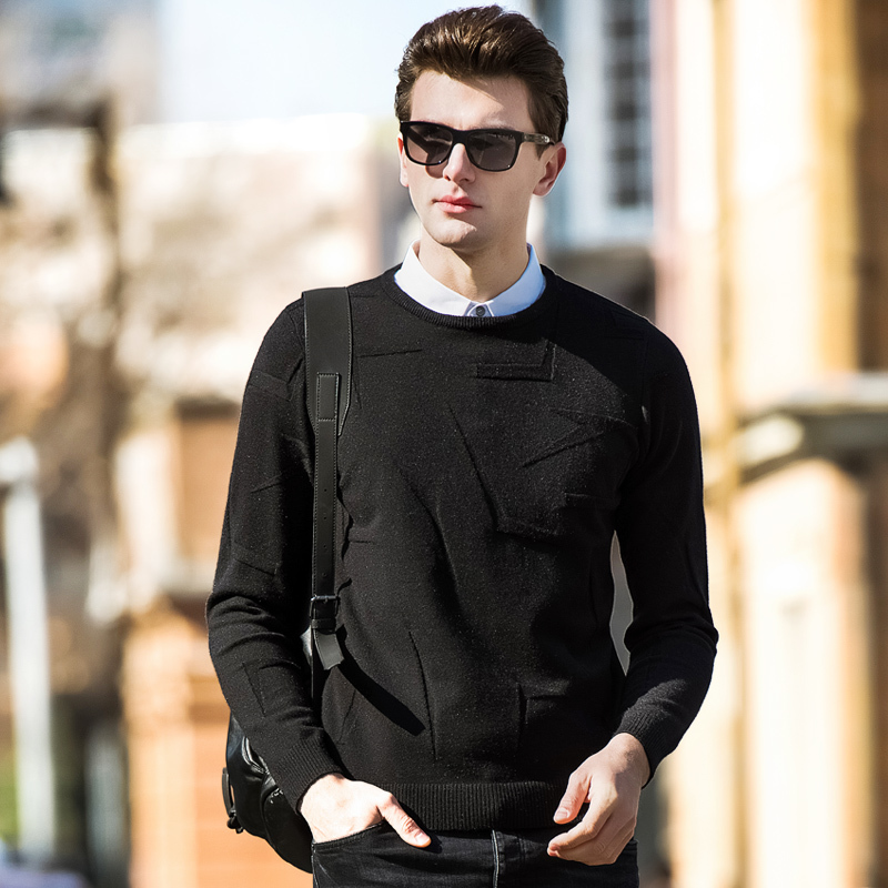 Men's Sweaters Men Basic Pullover Slim Fit Long Sleeve Shirt Knitwear Pull Homme 2020 Spring New