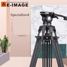 E 이미지 710A SLR 사진 1.8m 삼각대 전문 대형 입 그릇 휴대용 유압 댐핑 카메라 삼각대