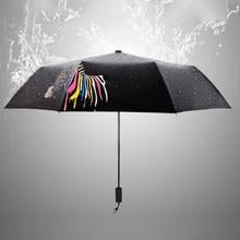 Umbrella Color changing zebra small black umbrella sun sunny discoloration in case of water sunscreen