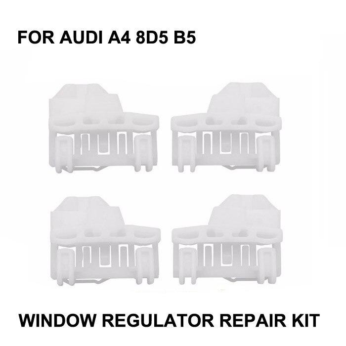 רכב חלון לאאודי A4 B5 חלון רגולטור תיקון ערכת קדמי-שמאל/ימין 94-01
