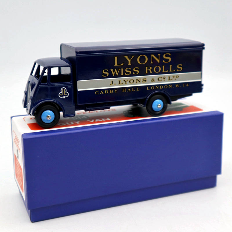 Atlas Dinky Toys 514 Supertoys GUY Van Truck Blue Diecast Models Car Collection Auto Gift