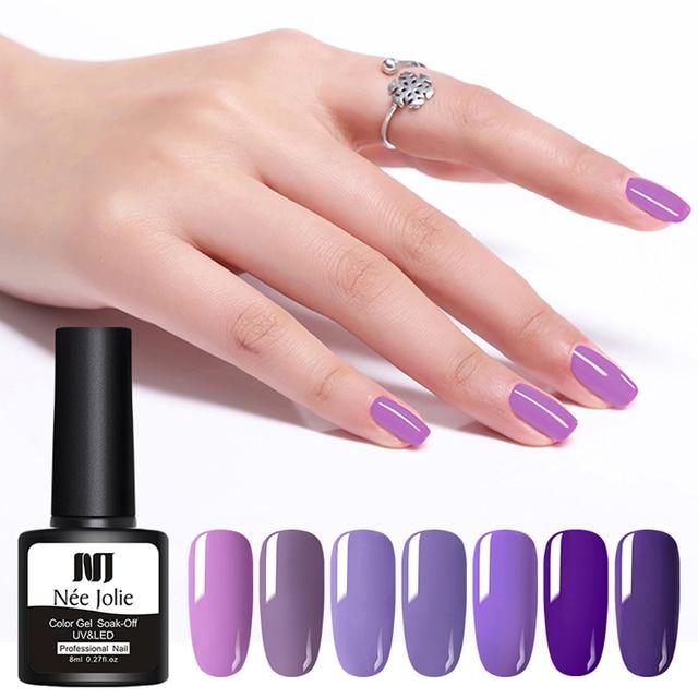 NEE JOLIE 59 couleurs vernis à ongles UV Gel vernis gris rouge vert couleur des ongles vernis UV Gel imbiber Gel UV 8ml pour la décoration des ongles