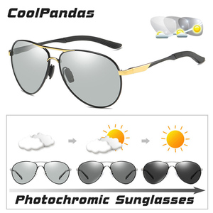 Image 2 - CoolPandas Brand Men Pilot Sunglasses Polarized Driving HD Photochromic Sun Glasses Women Aviation Discoloration zonnebril heren