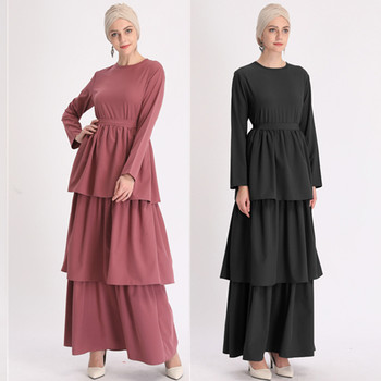 Muslim Pleated Cardigan Kimono Long Robe Gowns