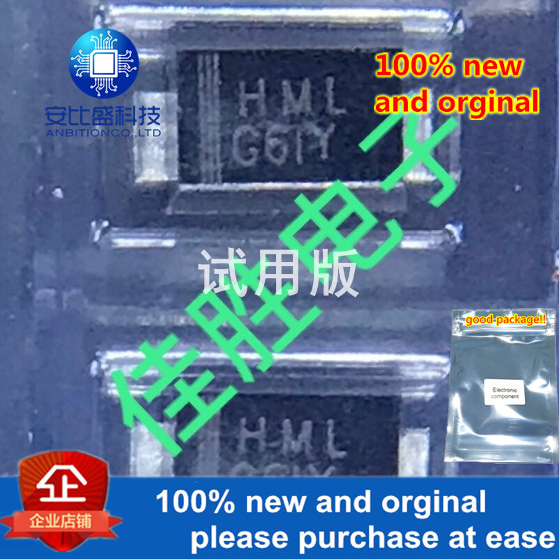 25-50pcs 100% New And Orginal HS1ML 1A1000V SMAF Silk-screen HML  In Stock