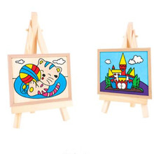 7*12.5cm Wooden mini easel Stands Table Card Stand holder Small Picture Display for Home Party Wedding Decoration Easel