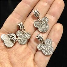 Bangles Beads Crystal Bracelet Charms-Fit Rhinestone Cartoon Mouse Big-Hole Whsle-Price